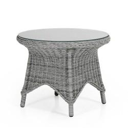 """Плетеный стол """"Paulina grey"""", Ø 70 см"""