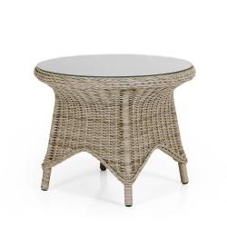 "Плетеный стол ""Paulina beige"", Ø 70 см"