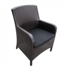 """Плетеное кресло """"Mykonos"""", цвет коричневый"""