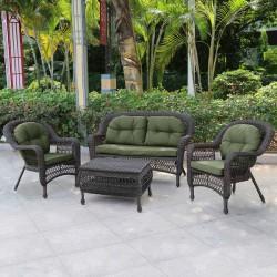 """Садовая мебель """"Афина"""" с зелеными подушками"""