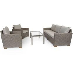 """Плетеная мебель """"Canby classic set"""", цвет бежевый"""