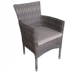 """Кресло """"Capri"""", штабелируемое, цвет коричн."""