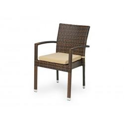 """Плетеное кресло """"Milano"""", цвет темно-коричн."""
