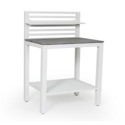 Летняя кухня «Bellac» - стол кухонный белый