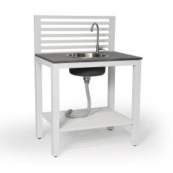 Мойка кухонная «Bellac» - летняя кухня, модуль белый