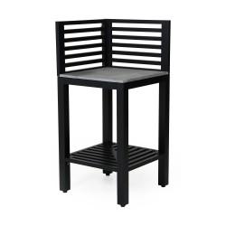 Летняя кухня «Bellac» - стол угловой черный