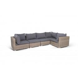 """Плетеный диван """"Лунго"""", цвет соломенный"""