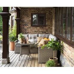 """Плетеная мебель """"Ashfield beige"""" с угловым диваном"""