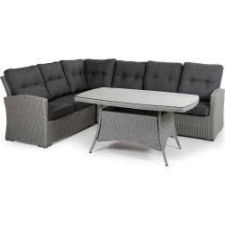 """Плетеная мебель """"Ashfield grey"""" с угловым диваном"""
