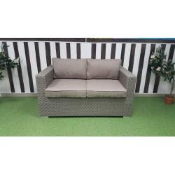 Плетеный диван «Louisiana» mocco , 145 см