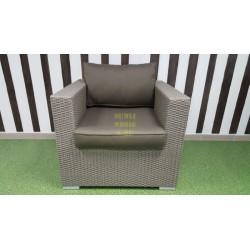 Плетеное кресло «Louisiana» mocco