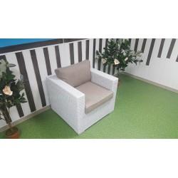 Плетеное кресло «Louisiana» white&beige