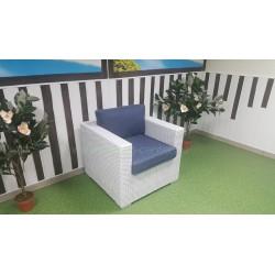 Плетеное кресло «Louisiana» white&blue