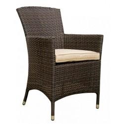Плетеное кресло «Nina» brown leather