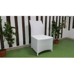 Плетеный стул «Rose» white