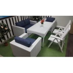 "Плетеная мебель ""Dream"" white&blue"