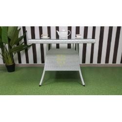Плетеный стол «Samurai» 90х90 см white