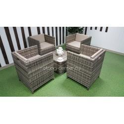 """Плетеная мебель """"Barbados"""" beige cafe 4 set"""