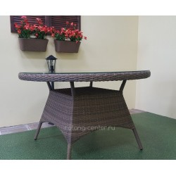Плетеный стол «Nina» beige, Ø120 см