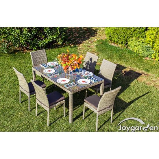 """Плетеная мебель """"Rome"""" со стульями, цвет светло-коричневый"""