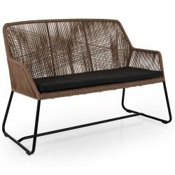 """Плетеный диван """"Midway"""", цвет коричневый"""