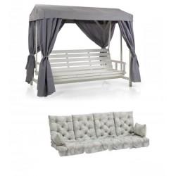 """Качели садовые """"Heaven"""" белые с подушками"""